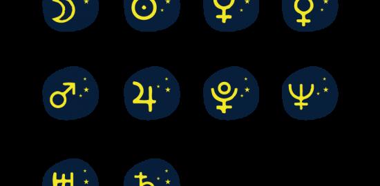 12星座マークイラスト