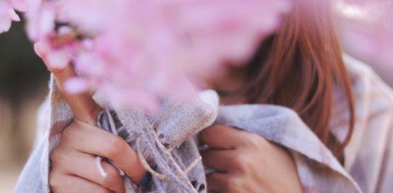 桜と女の子画像
